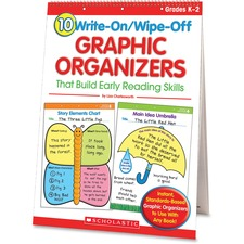 Scholastic Res. Grade K-2 Write/Wipe Reading Flip Chart - Theme/Subject: Learning - Skill Learning: Reading, Writing, Character Identification, Comprehension - 5+