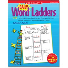 Scholastic Res. Gr 1-2 Daily Word Ladders Workbook Education Printed Book