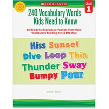 SHS 0545460506 Scholastic Res. Grade 1 Vocabulary 240 Words Book SHS0545460506