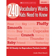 SHS 0545460514 Scholastic Res. Grade 2 Vocabulary 240 Words Book SHS0545460514