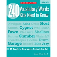 SHS 0545468639 Scholastic Res. Grade 3 Vocabulary 240 Words Book SHS0545468639