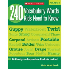 SHS 0545468647 Scholastic Res. Grade 4 Vocabulary 240 Words Book SHS0545468647