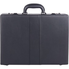 style for mobile Carrying Case (Briefcase) File - Black - Drop Resistant, Bump Resistant - Synthetic Leather - Handle