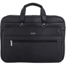 """bugatti Executive Carrying Case (Briefcase) for 15.6"""" Notebook - Black - Synthetic Leather - Shoulder Strap - 11.50"""" (292.10 mm) Height x 16.50"""" (419.10 mm) Width x 8"""" (203.20 mm) Depth - 1 Pack"""