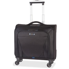 """Nextech Carrying Case (Rolling Briefcase) for 15.6"""" Notebook - Black - Bump Resistant, Scratch Resistant - Polytex - Telescoping Handle, Handle - 16.50"""" (419.10 mm) Height x 8"""" (203.20 mm) Width x 13.50"""" (342.90 mm) Depth - 1 Pack"""