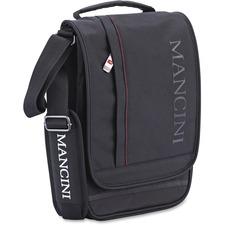 """MANCINI Biztech Carrying Case (Messenger) Tablet, Digital Text Reader, Notebook - Black - 900 x 600D Ballistic Nylon - Shoulder Strap - 11"""" (279.40 mm) Height x 7.75"""" (196.85 mm) Width x 2.75"""" (69.85 mm) Depth"""