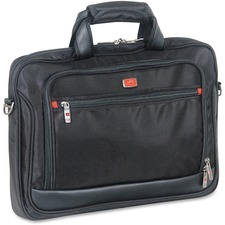"MANCINI Biztech Carrying Case (Briefcase) for 17.3"" Notebook - Black - Bump Resistant, Scratch Resistant, Slip Resistant - 1680D Ballistic Nylon - Shoulder Strap - 12"" (304.80 mm) Height x 16.25"" (412.75 mm) Width x 1.75"" (44.45 mm) Depth"