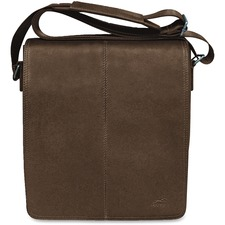 """MANCINI COLOMBIAN Carrying Case (Messenger) Tablet - Brown - Colombian Leather - Shoulder Strap - 10.25"""" (260.35 mm) Height x 12"""" (304.80 mm) Width x 3"""" (76.20 mm) Depth - 1 Pack"""