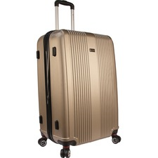 """MANCINI Santa Barbara Carrying Case (Roller) Luggage, Travel Essential - Champagne - Damage Resistant, Impact Resistance - Acrylonitrile Butadiene Styrene (ABS) - Handle, Telescoping Handle - 28"""" (711.20 mm) Height x 19"""" (482.60 mm) Width x 13.50"""" (342.90 mm) Depth"""