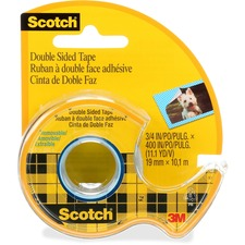 "3M Double-sided Tape - 11.1 yd (10.2 m) Length x 0.75"" (19.1 mm) Width - 1"" Core - Dispenser Included - Handheld Dispenser - 1 Each"