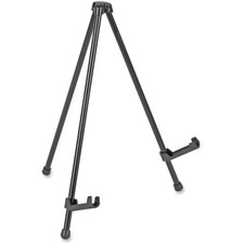 """MasterVision Heavy-Duty Instant Display Easel - 2.27 kg Load Capacity - 14.25"""" (361.95 mm) Height - Tabletop - Metal - Black"""