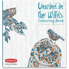 Derwent Colour and Relax: Unwind in the Wilds Colouring Book Coloring Printed Book - Book - 96 Pages