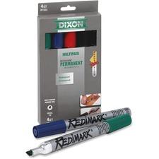 Dixon RediMark Metal Barrel Permanent Marker - Chisel Marker Point Style - Assorted - Metal Barrel - 1 Pack