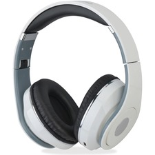 Exponent Microport Bluetooth Headset - Stereo - White - Wireless - Bluetooth - Over-the-head - Binaural - Circumaural