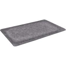 "Floortex Anti-fatigue Mat - Workstation, Call Centre - 24"" (609.60 mm) Length x 24"" (609.60 mm) Depth - Square - Vinyl - Gray"