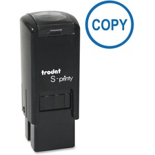 "Trodat Self-inking Stamp - Message Stamp - ""COPY"" - Blue - Plastic Housing - 1 Each"
