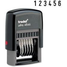 Trodat Self-inking Stamp - Number Stamp - 6 Bands - Black - 1 Each