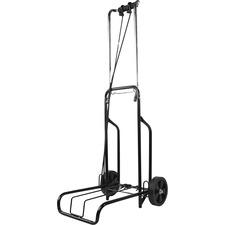 "Austin House Heavy Duty Foldable Cart - Folding Handle - 34.02 kg Capacity - 2 Casters - 5.51"" (140 mm) Caster Size - Metal - Steel Frame - 1 Each"