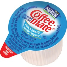 Coffee-Mate Liquid Creamer - French Vanilla Flavor - 11 mL - 180/Carton - 1 Serving