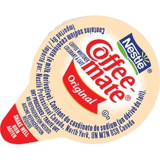 Coffee-Mate Liquid Creamer - Original Flavor - 11 mL - 180/Carton - 1 Serving