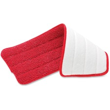 "Rubbermaid Commercial Reveal Microfiber Wet Mopping Pad - 5.50"" Width x 16.50"" Length - MicroFiber"
