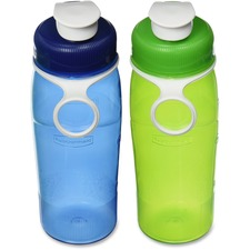 Rubbermaid Water Bottle - 591.47 mL - Green, Blue - Plastic