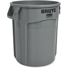 """Rubbermaid Commercial BRUTE Container without Lid - 75.71 L Capacity - Round - UV Resistant - 19.4"""" Diameter - Gray"""