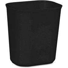 Rubbermaid Wastebasket - Yes - Black - 1 Each