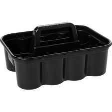 "Rubbermaid Commercial Storage Caddy - 6.7"" Height x 10.9"" Width x 15.9"" Depth - Black - 1Each"