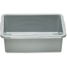 Rubbermaid Bus/Utility Box - 17.51 L Utility Box - Plastic - Dishwasher Safe - Gray - 1 Piece(s) Each