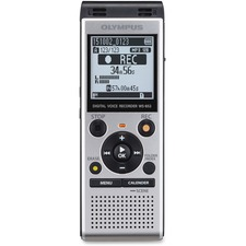 Olympus WS852SD 4GB Digital Voice Recorder - 4 GBmicroSD SupportedLCD - MP3 - Headphone - 1040 HourspeaceRecording Time - Portable