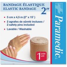 "Paramedic Elastic Bandage 2'' - 2"" (50.80 mm) x 14.76 ft (4500 mm) - 1Each - 6 Per Box - Fabric"