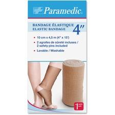 "Paramedic Elastic Bandage 4'' - 4"" (101.60 mm) x 14.76 ft (4500 mm) - 1Each - 6 Per Box - Fabric"