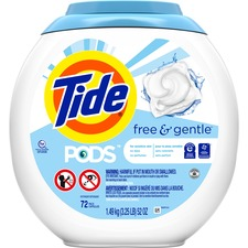 Tide PODS Free and Gentle Laundry Detergent - 72 - 1 Each
