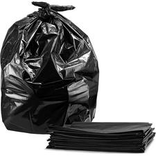 """Ralston Industrial Garbage Bags Value Plus-Black - 26"""" (660.40 mm) Width x 36"""" (914.40 mm) Length - Black - Plastic - 200/Carton - Garbage, Waste Disposal, Industrial"""