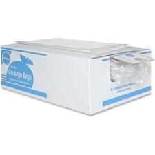 "Ralston Industrial Garbage Bags - 26"" (660.40 mm) Width x 36"" (914.40 mm) Length - Transparent - Plastic - 125/Carton - Garbage, Waste Disposal, Industrial"