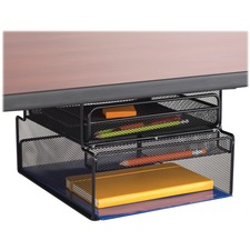 "Safco Onyx Mountable Hanging Storage - 7.3"" Height x 10.3"" Width x 12.4"" Depth - Black - Steel - 1Each"