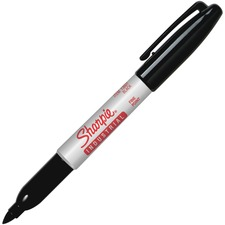 Sharpie Industrial Fine Permanent Marker - Fine Marker Point - Black - 1 Each