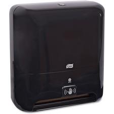 "Tork Matic Hand Towel Roll Dispenser - with Intuition Sensor - Roll Dispenser - 14.50"" (368.30 mm) Height x 13"" (330.20 mm) Width x 8"" (203.20 mm) Depth - Plastic - Black - Smart Sensor, Refillable, Hygienic, Adjustable"