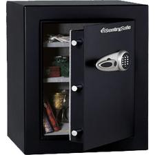 "Sentry Safe T8-331 Security Safe - 123.20 L - 3 Live-locking Bolt(s) - Internal Size 26"" x 20.5"" x 14.1"" - Overall Size 27.7"" x 21.7"" x 19.8"" - Black - Steel"