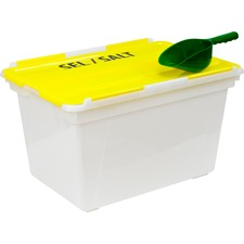 "Storex Storage Case - External Dimensions: 22.5"" Width x 15.3"" Depth x 13"" Height - 45 L - Plastic - Clear - 1 Each"