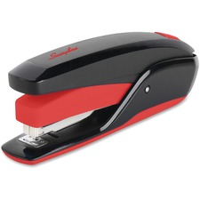 Swingline Quick Touch Desktop Stapler - 20 Sheets Capacity - 210 Staple Capacity - Full Strip - Red