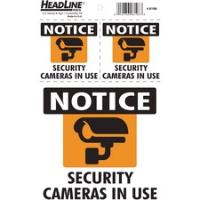U.S. Stamp & Sign Caution Sign - 3 / Pack - Tear Resistant, Long Lasting, Stretch Resistant, Heavyweight, Peel-off, Adhesive - Vinyl