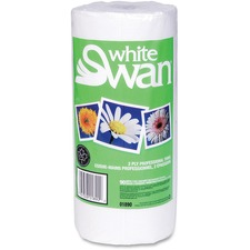 """Unisource Paper Towel - 2 Ply - 8.6"""" x 10.9"""" - White - Paper - Eco-friendly, Absorbent, Perforated - For Kitchen, Hand - 90 Sheets - 1 Roll"""