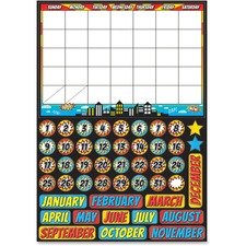 ASH 77002 Ashley Prod. Superhero Magnetic Calendar Set ASH77002