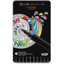 BIC BCAMP101AST Bic Color Collection Coloring Felt Pens BICBCAMP101AST