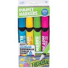 RAI DMP72 RoseArt Ind. Washable Sidewalk Chalk Paint Markers RAIDMP72