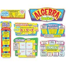 TEP T8256 Trend Algebra Basics Bulletin Board Set TEPT8256