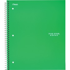 MEA 72055 Mead Five Star College Ruled 1-subject Notebook MEA72055