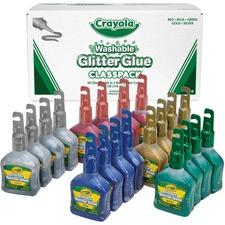 CYO 690020 Crayola Washable Glitter Glue Classpack CYO690020